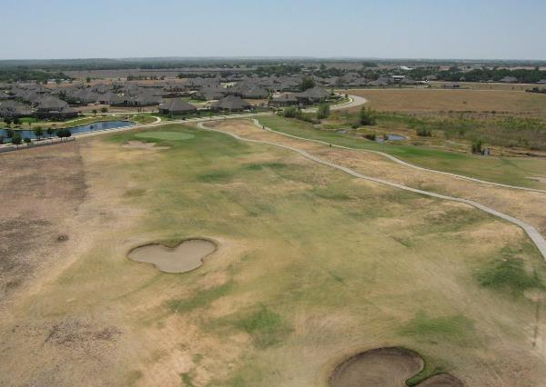 Overhead of drought stressed fairway