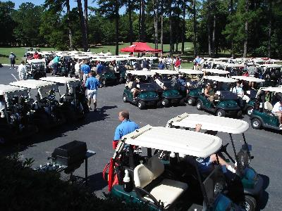 Carts ready for a tournament