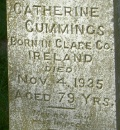 Headstone - Catherine Cummings