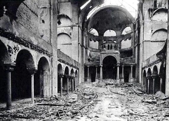 Fasanenstrasse Synagogue, Berlin, after Kristallnacht in 1938