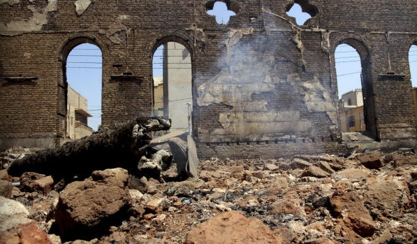 Degla's ruined Church of the Virgin Mary, Egypt, August 2013