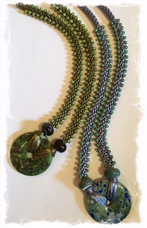 Glazed Donut Edge Bead Necklace