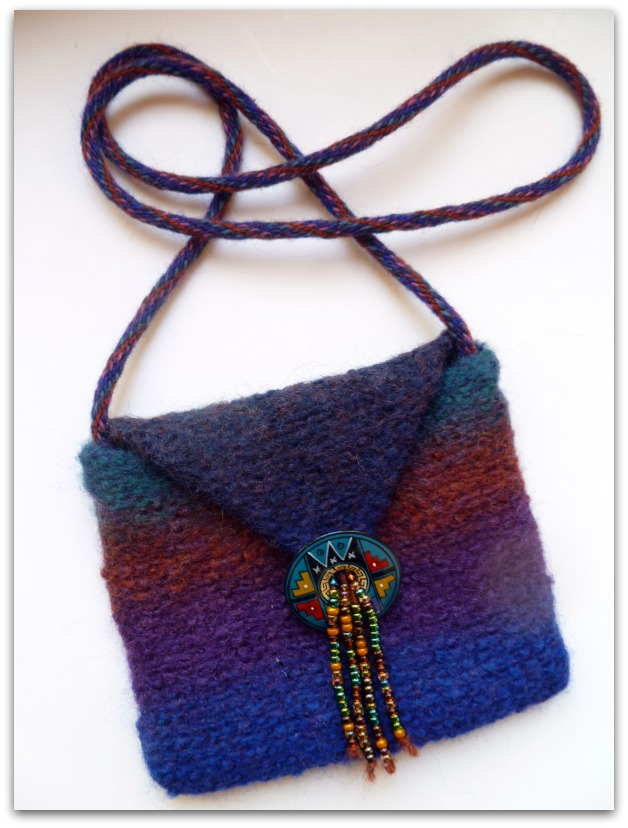 Felted Purse with Kumihimo Strap