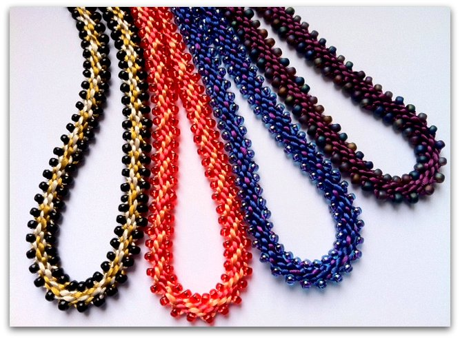 Edge Bead Necklace Collection