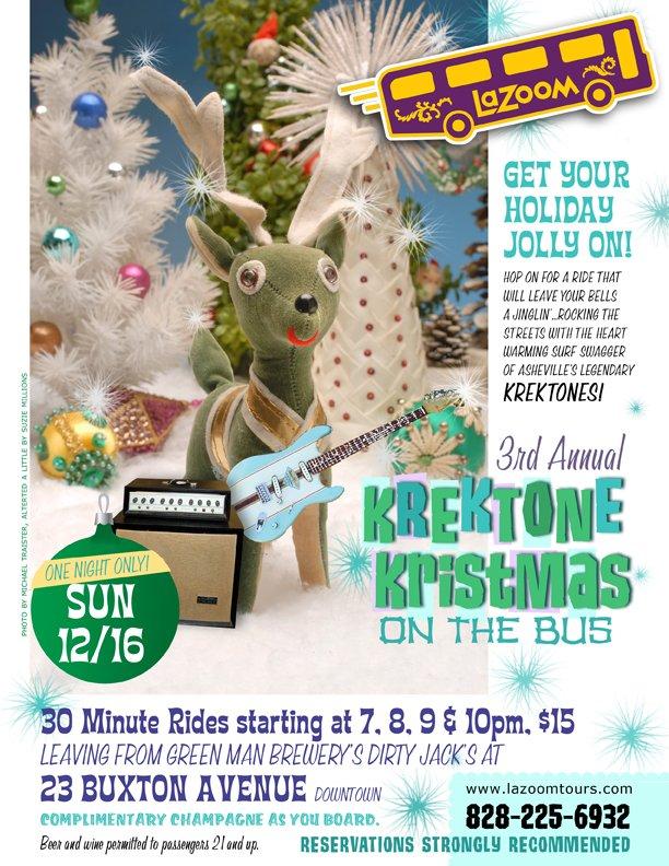 LaZoom Holiday Joy Ride with the Krektones Sunday
