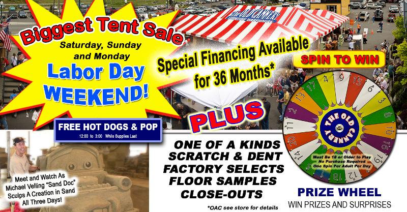 The old cannery furniture warehouse member events for Labor day weekend furniture sales