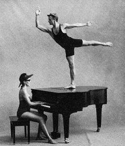 Baryshnikov on a piano