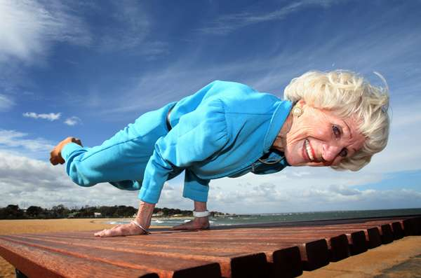 Bette, an 83-year-old yoga master