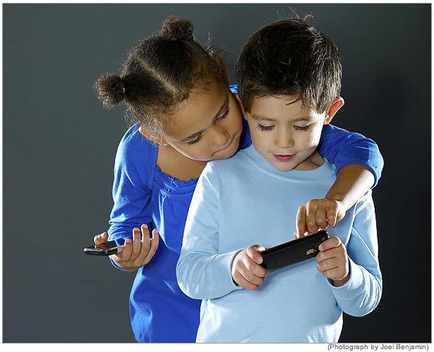 Kids with Iphones