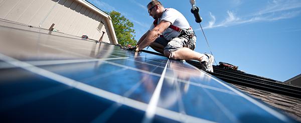 flush-mounted solar