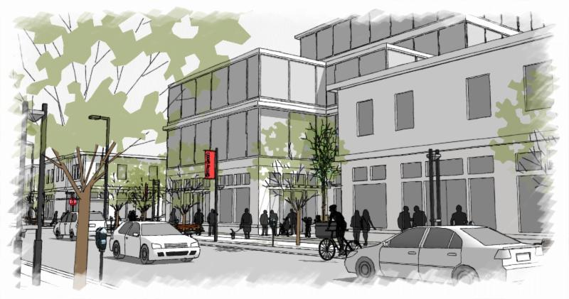 rendering of possibilities for 3rd ave Cherry Creek