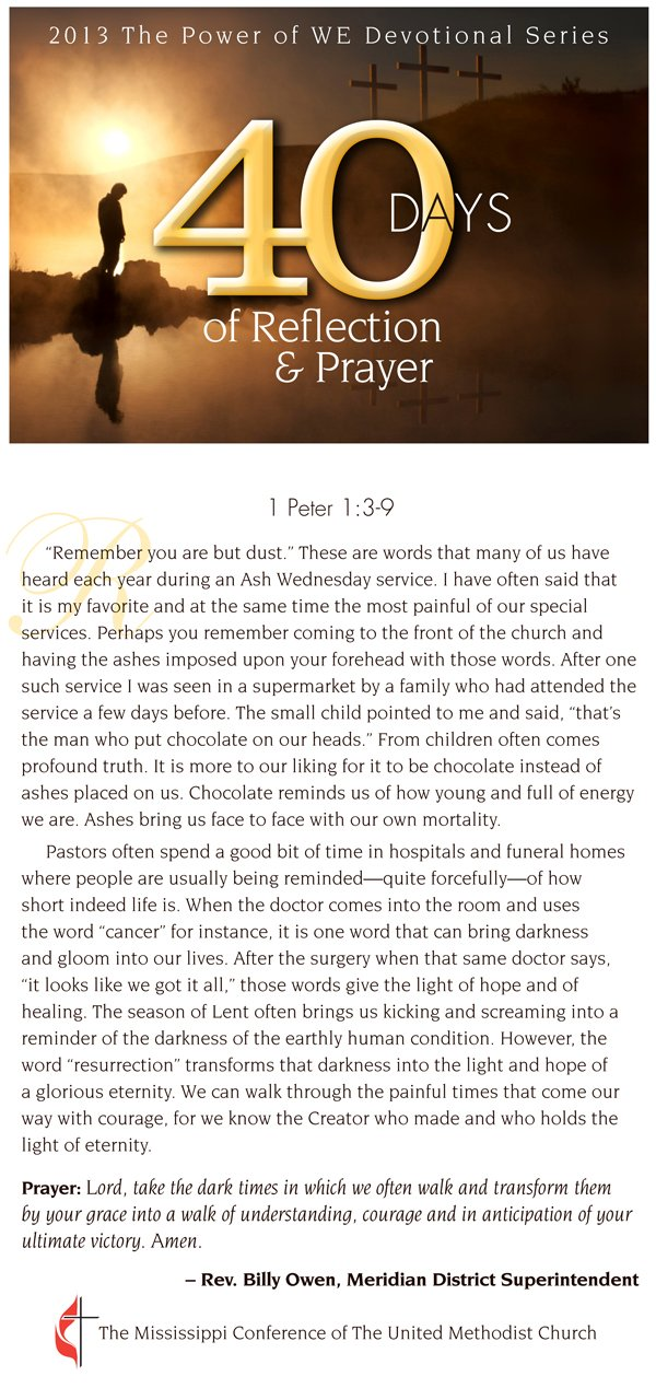 Devotional for March 29, 2013