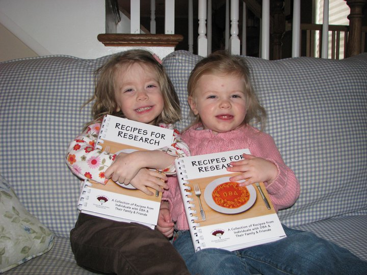 Bailey & Friend with cookbook