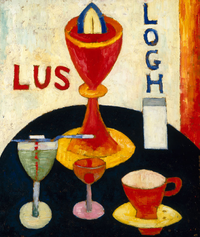 AM-Marsden Hartley (American, 1877-1943). Handsome Drinks, 1916. Oil on composition board, 24 x 20 in. (61 x 50.8 cm). Brooklyn Museum, Gift of Mr. and Mrs. Milton Lowenthal, 72.3.