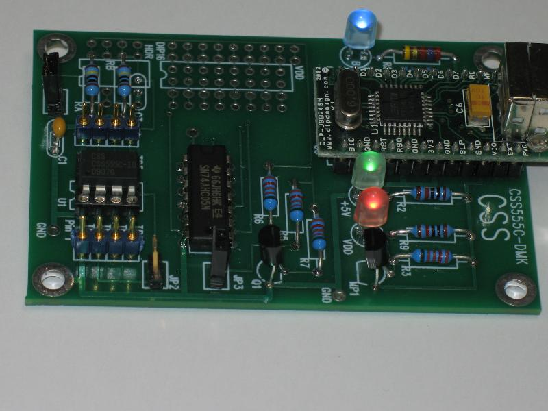 CSS555C Demo Kit PC Card from Custom Silicon Solutions