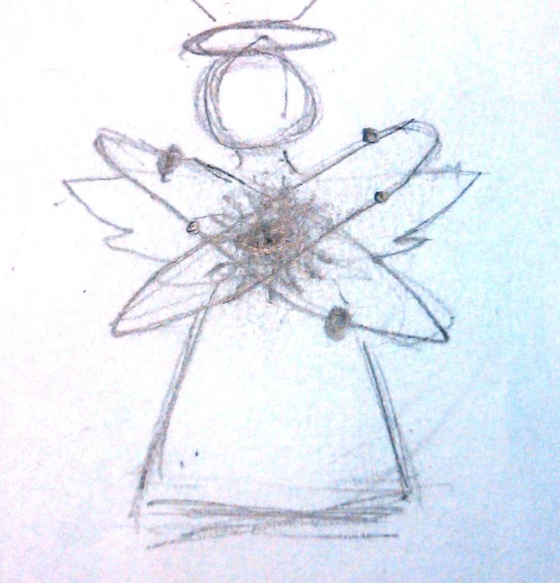 Angel Holding Atom