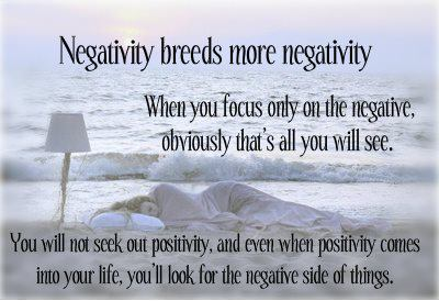 Negativity breeds more negativity