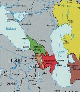 Map ofAzerbaijain