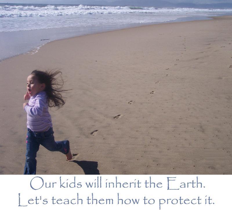 Child runniing on the beach