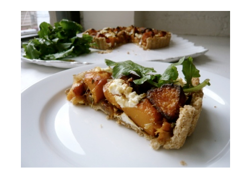 Roast Squash, Caramelized Onion and Goat Cheese Tart