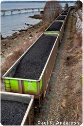 Coal trains to China
