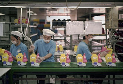 Toys on the assembly line