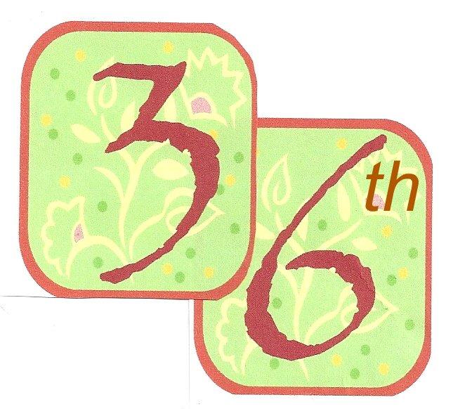 36th Anniversary logo