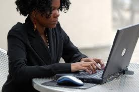 women at computer