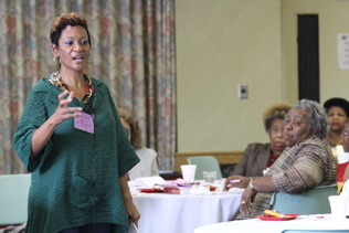 Rev. Dr. Sheron Patterson at the African-American Women's Gathering