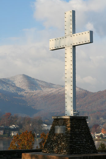 Snow at Lake Junaluska
