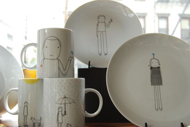 Mugs and plate sets by K Studios