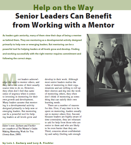Senior Leaders Can Benefit