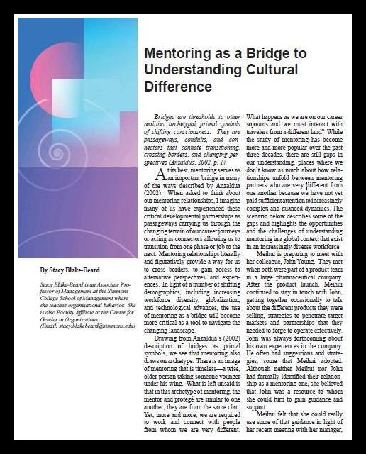 Mentoring as a bridge
