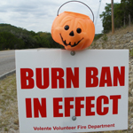 Burn Ban In Effect Sign