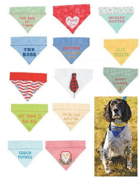 In the Hoop Dog Bandanas