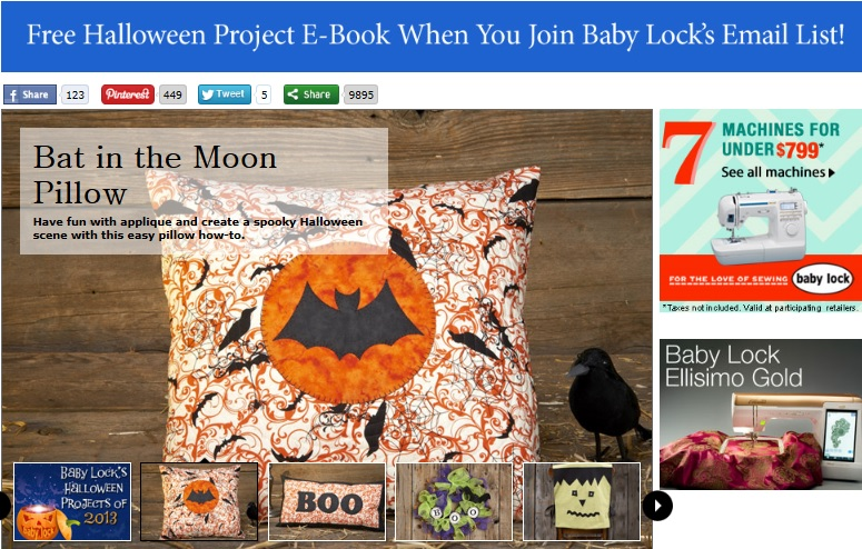 Baby Lock Halloween Projects