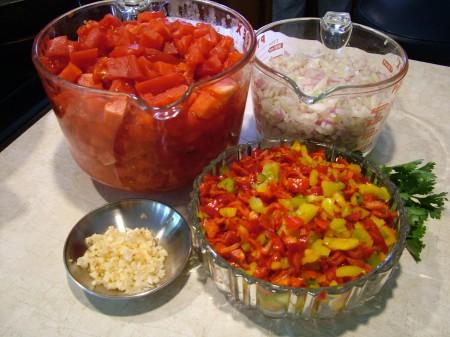Judy's Salsa Ingredients