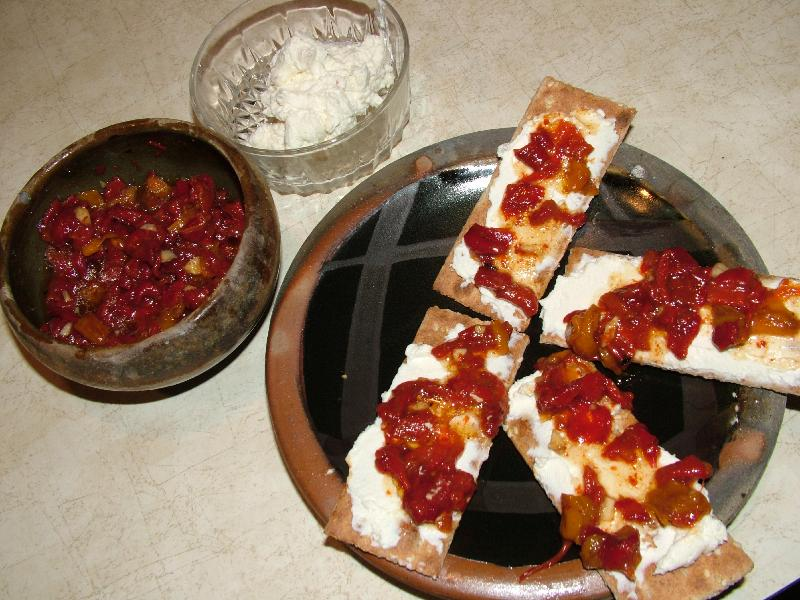 Ajvar and Cheese Spreads