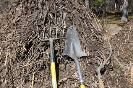 Compost Pile and Tools