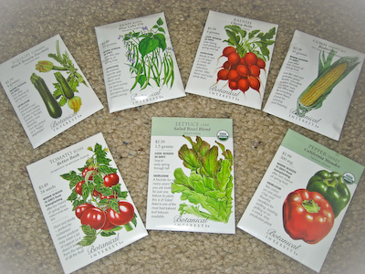 Botanical Interests Basic Bounty Veggie Seed Collection
