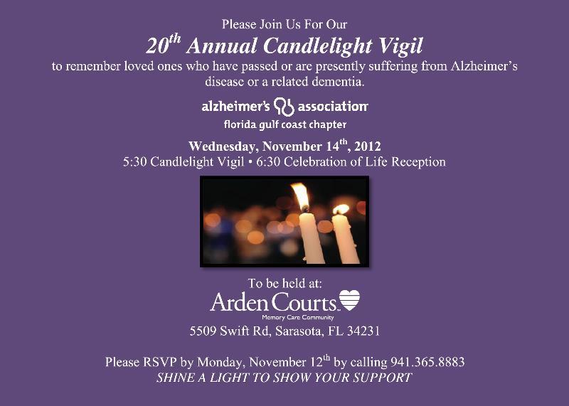 Candle Light Vigil Invitation