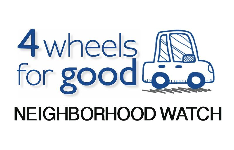 4 Wheels for Good Neighborhood Watch Logo