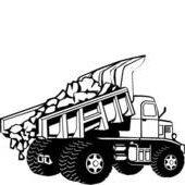 Dump truck b/w