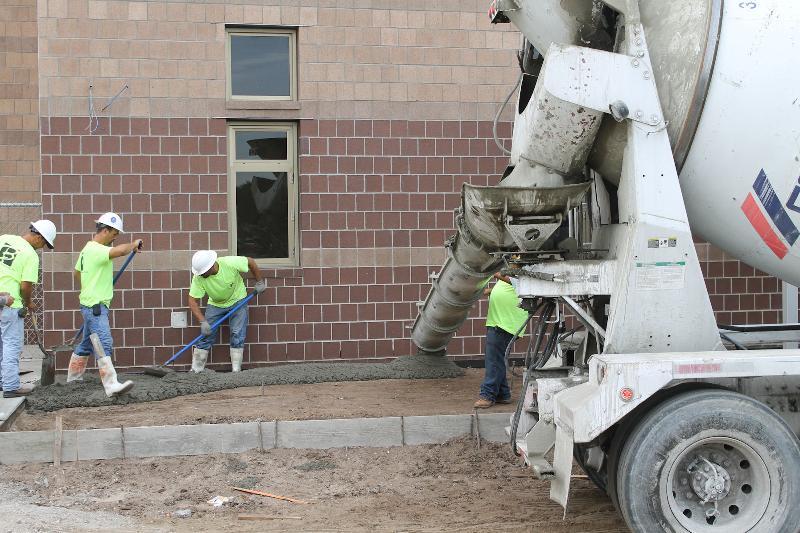 Concrete Pour at Booker High School