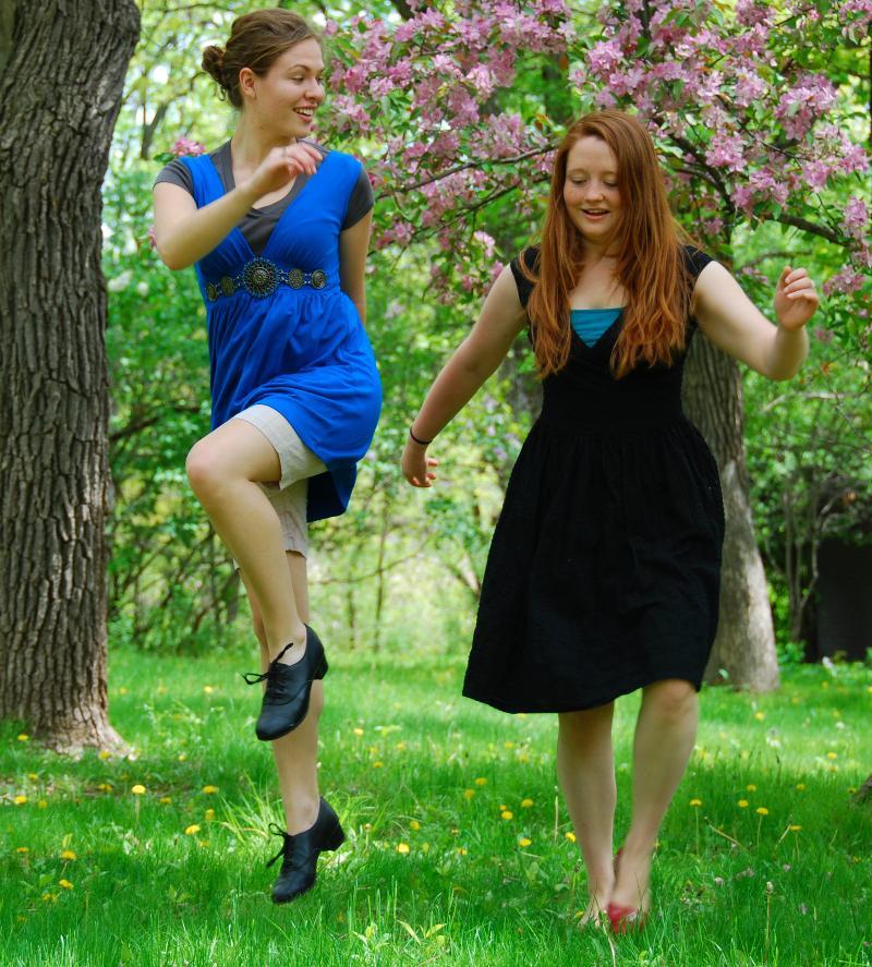 Danielle and Anna dancing