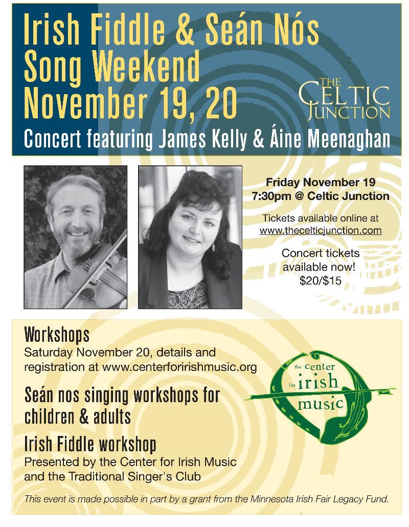 James Kelly/Aine Meenaghan flyer