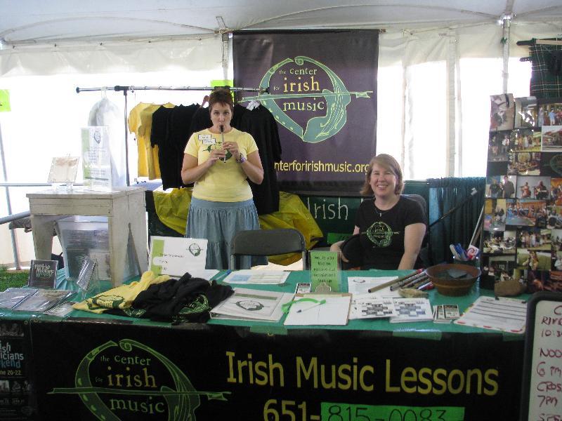 Irish Fair booth 2010