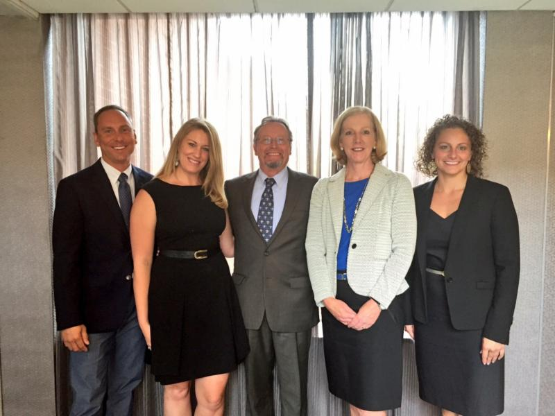 Casey McCue (NYS Department of Agriculture & Markets), Tristan Zuber (Cornell University), Commissioner Richard Ball (NYS Department of Agriculture & Markets), Cary Frye (IDFA), Maria Knirk (NYS Department of Agriculture & Markets)