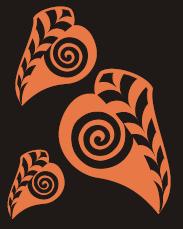 Copper Leaf Graphic