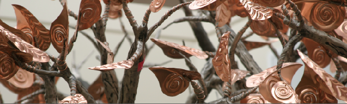 Copper Leaves on Teh Hope Tree Sculpture